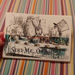 🆕 18 Alice in Wonderland Book Coloring Postcards